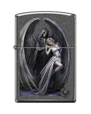 Zippo 0572, Anne Stokes-Reaper With Woman, Iron Stone Finish Lighter