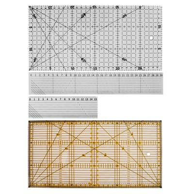 Acrylic Ruler Standard Scale Patchwork Ruler Quilting Ruler Non-Slip Tool