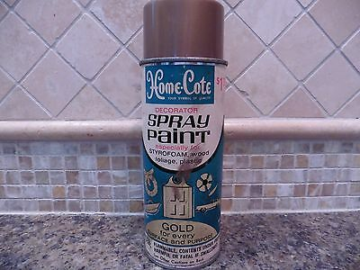 Vintage Pre 1963 Woolworth Home-Cote Spray Paint Can Gold