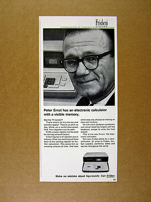 1965 Friden 130 Electronic Calculator screen photo vintage print Ad