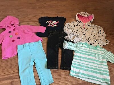 Baby Toddler Girl Clothes Misc Lot Of 6 Size 12 Months & 18 Months