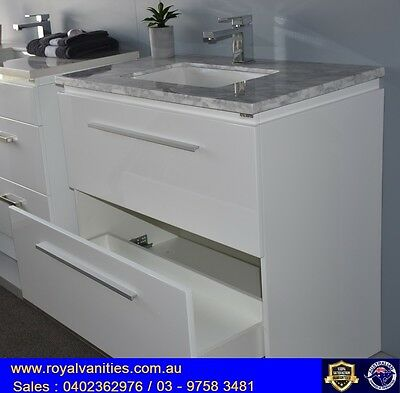 Bathroom Vanity 900mm Marble Freestanding  - Sizes Available