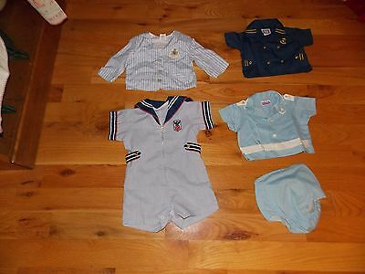Boy's Vintage Baby Clothing Lot Sailor Navy Air Force Adorable!