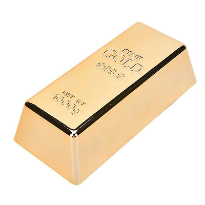 New Fake Gold Bar Plate Bullion Door Stop Paper Weight Desk Office Table OZ