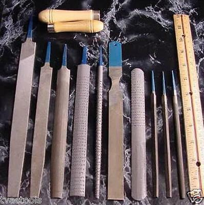 12pc. Metal and Wood FILE SET  with Pouch new