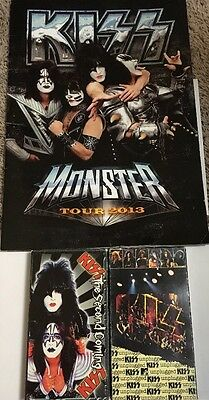 Kiss Tour Program (some water Damaged )And VHS Tapes Including Kiss Unplugged