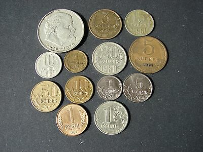 13 coins from USSR/Russia