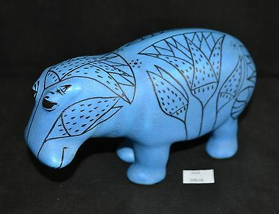 ThriftCHI ~ MMA Souvenir Hand Painted William Blue Egyptian Hippo Figurine