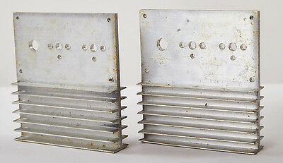 "Lot of 2 Aluminum Heat Sinks Heatsinks, Size 4"" X 4 3/4"" X 1"""