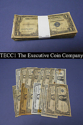 $1 Silver Certificate Pack 1935 1957 100 Notes Total Low End Damage No Returns