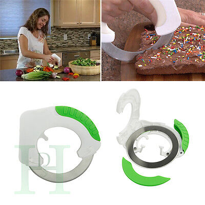 Creative round stainless the rolling kitchen knife with stainless steel blade UK