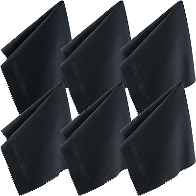Microfiber Cleaning Cloth 12x12 Inch (6 Pack) for Lens, Eyeglasses, Glasses, Scr