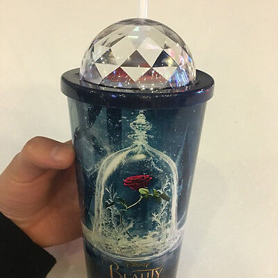 HOT! Beauty and the Beast : Movie Cup flower dome + Bucket Theater Cup