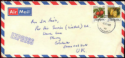 Malaysia 1992 Air MAil Commercial Cover To UK #C40060