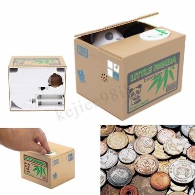 Novelty Piggy Bank Cat Steal Money Coin Saving Box Pot Case Storage Kids Gifts