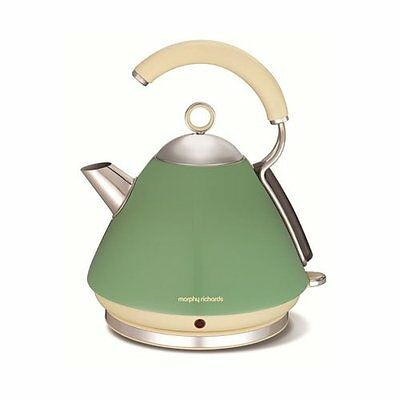 Morphy Richards Accents Sage Green Kitchen Appliance Kettle 102255 1.5L