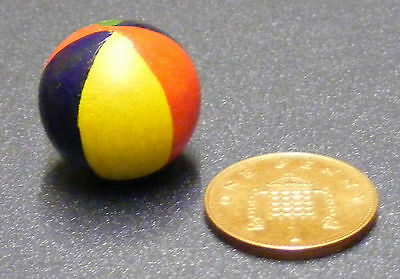 1:12th Scale Wooden Beach Ball Dolls House Miniature Accessory Nursery Toy