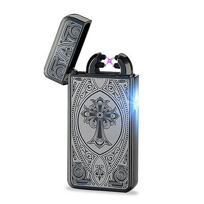 Electric Rechargeable USB Double ARC Flameless Windproof Plazmatic X Lighter