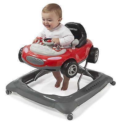 New Safe Folding Mini Speedster Activity Learning Baby Walker By Storkcraft Red