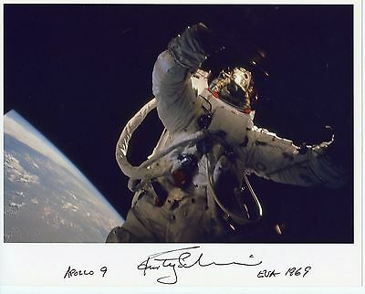 Astronaut Archives Offers Rusty Schweikart Hand Signed Apollo 9 Eva Nasa Glossy