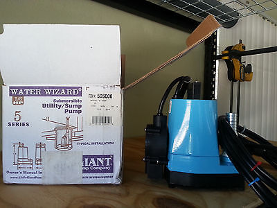 Little Giant 5MSP-18 Submersible Sump Utility Pump, 1/6 HP, 115 Volts