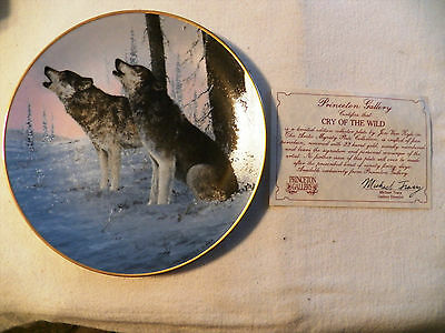 The Artic Majesty Plate. Princeton Gallery. Cry of the Wild. With Certif.