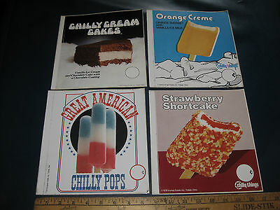 4 Cool Vintage Ice Cream Items Decals Good Humor Mister Softee Truck Chilly Pops