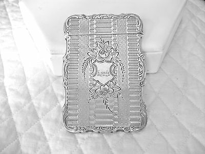 "Antique Victorian Dated 1870 Enlish Solid Silver Calling Case Engraved ""annie"""