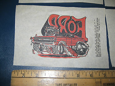 4 Vintage 69 70 Blown Ford IronOns Ice CreamTruck Mister Softee NOS