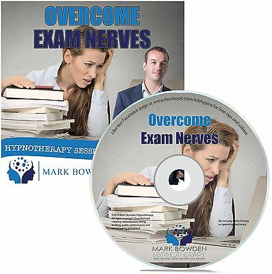 Overcome Exam Nerves Hypnosis CD + FREE MP3 VERSION revise effectively confident