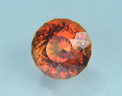 Padparadscha Sapphire. Lab Grown Round Portuguese Cut.11.50mm. 8.25cts