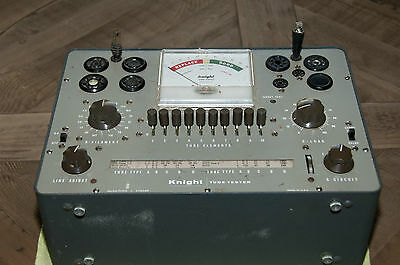 Knight 600 Bench Tube Tester-Restored And Calibrated