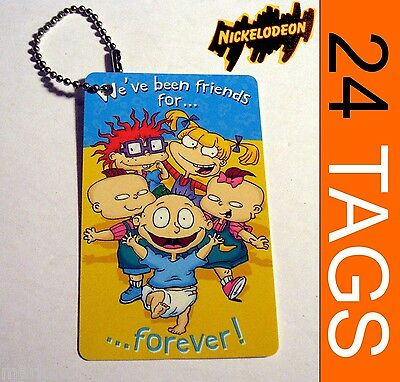 24 Rugrats party gift present Plastic tags lot American greetings To/From