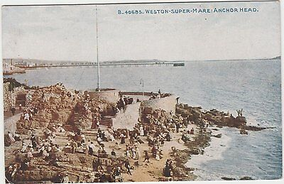 Postcard of Anchor Head, Weston Super Mare, early 1900s