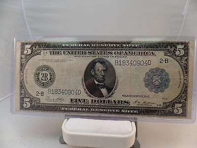 Series 1914 Large Size 5 Dollar  Federal Reserve Note New York