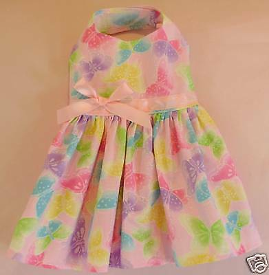 S New Spring Pink Butterfly Dog Dress clothes Pet Clothing Small PC Dog®