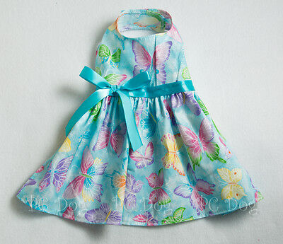 S New Spring Aqua Butterfly Dog dress clothes pet apparel clothing Small PC Dog®