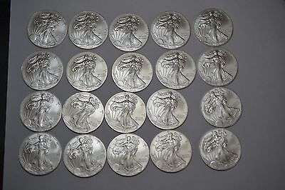 Roll of 20 American Silver Eagle 2012 One ounce Brilliant uncirculated