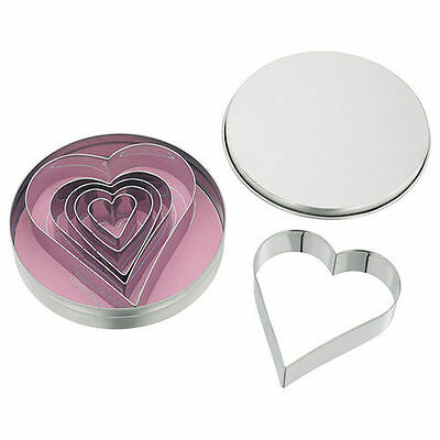 Judge Heart Shaped Cookie Cutters (Set Of Six)
