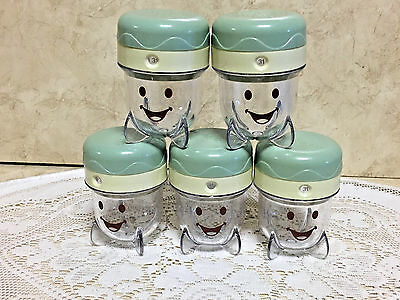 BABY BULLET (5) Food Storage Container Jars with Caps~Storage Cups EUC!!!