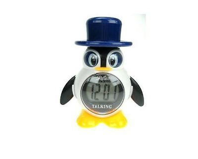 Reflex Talking Penguin LCD Alarm Clock Large Display Snooze Character Clock
