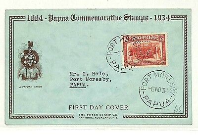 AB271 1934 Papua Port Moresby FDC {samwells-covers}PTS