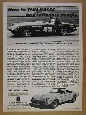 1975 Jensen-Healey Roadster Convertible car photos vintage print Ad