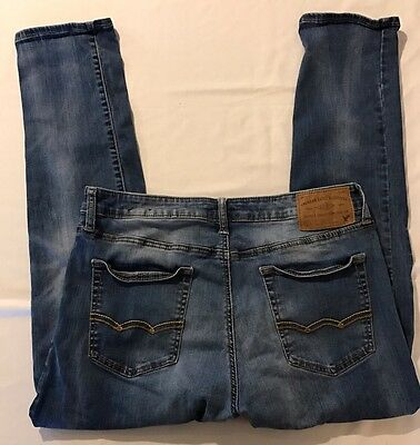 American Eagle Outfitters Extreme Flex Slim Jeans Mens 34 X 32 Distressed Rips
