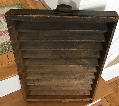 Unique Antique Wood Printers Letterpress Drawer Tray With Handle
