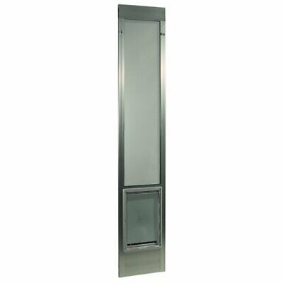 """Fast Fit Pet Dog Patio Door - Extra Large/Silver Frame 75"""" to 77 3/4"""""""