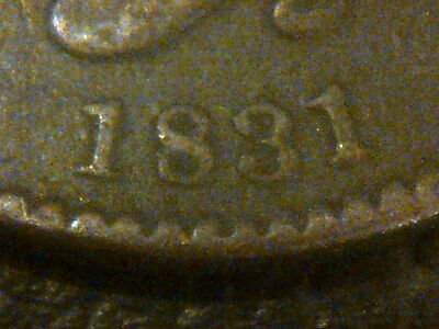 1831 Large U.s. One Cent Coin