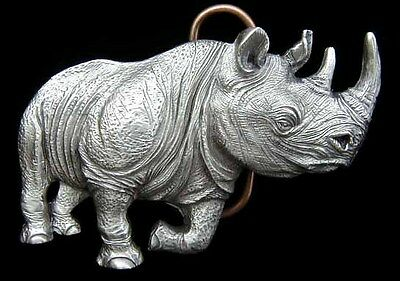 Charging Rhinoceros 3D Rhino Belt Buckle Cool