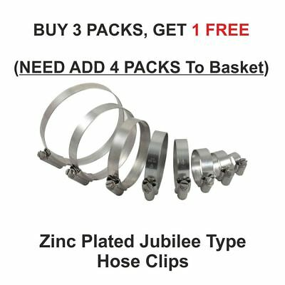 Hose Clips Pipe Clamps Fuel Hose Jubilee Type Silicon Hoses Worm Drive Steel ZP