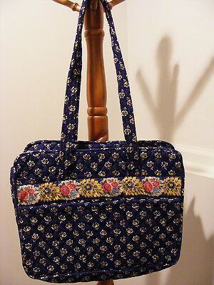 Vera Bradley Baby Diaper Bag  Maison Blue  Retired  Very Good Condition